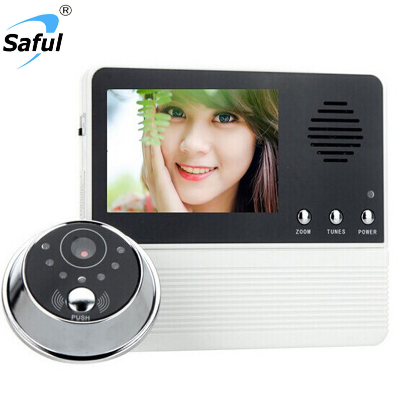 SAFUL 2.8 TFT LCD Screen Digital Eye Viewer Video Camera Door Phone Doorphone Monitor Speaker intercom Home Security Doorbell aputure vs 1 v screen digital video monitor