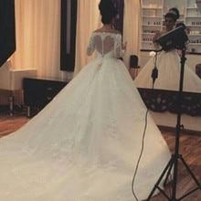 trust linda Luxury Ball Gown Long Sleeve Wedding Dresses