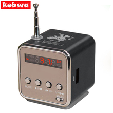 Kabwa TD-V26 Mini Speaker Portable Micro SD/TF Music Player Digital LCD Sound FM Radio Stereo Loudspeaker For PC Laptop MP3