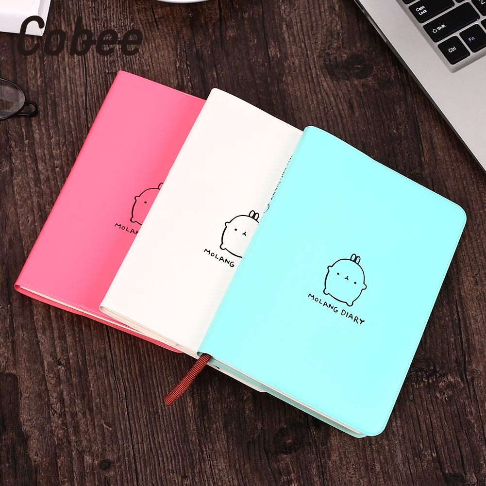 "/""Molang Rabbit 2020/"" 1pc Cute Monthly Weekly Planner Agenda Study Notebook Diary"