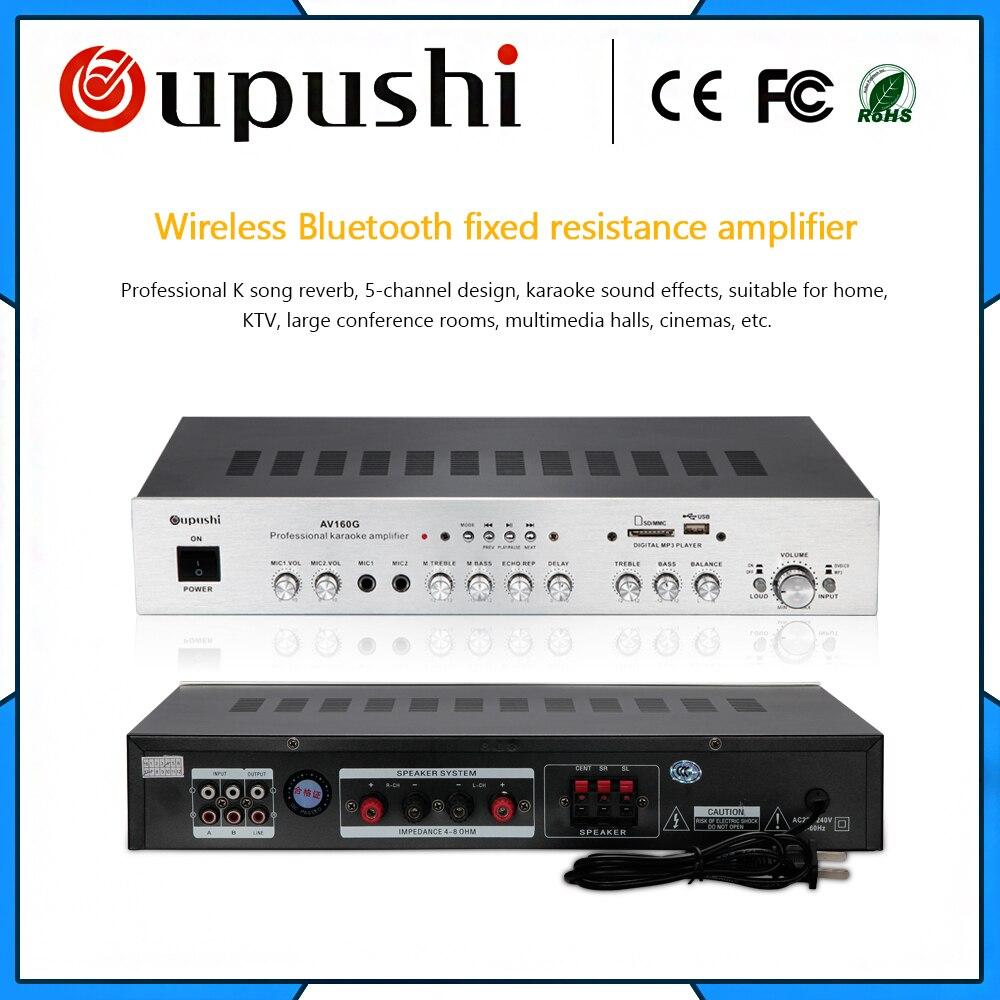 oupushi AV160G Hifi Stereo Audio Amplifier Home Karaoke amplifier With Bluetooth 5 1
