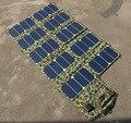 De Alto Rendimiento de Células Solares de Sunpower Panel Solar Plegable Del Cargador de Batería de Salida DC21V & Dual USB5V Uso Al Aire Libre