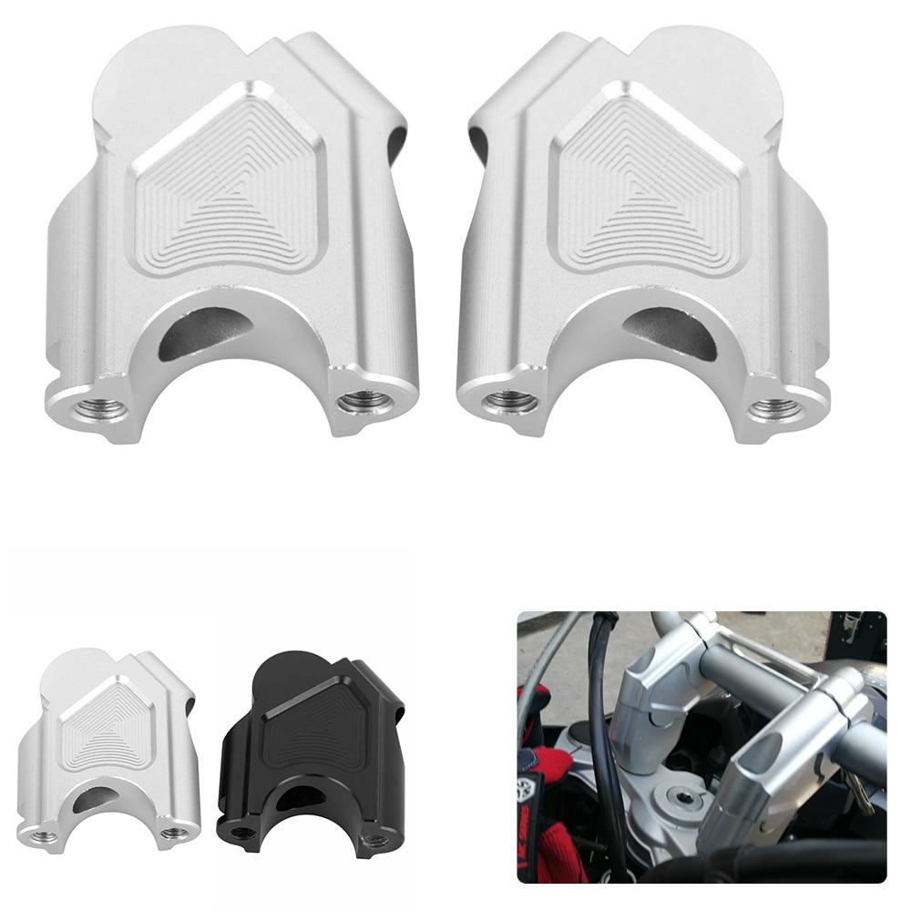 Motorcycle Handlebar Riser Kit Aluminum Handlebar Mount Extension Clamp for F800GS 2008-2017 Black