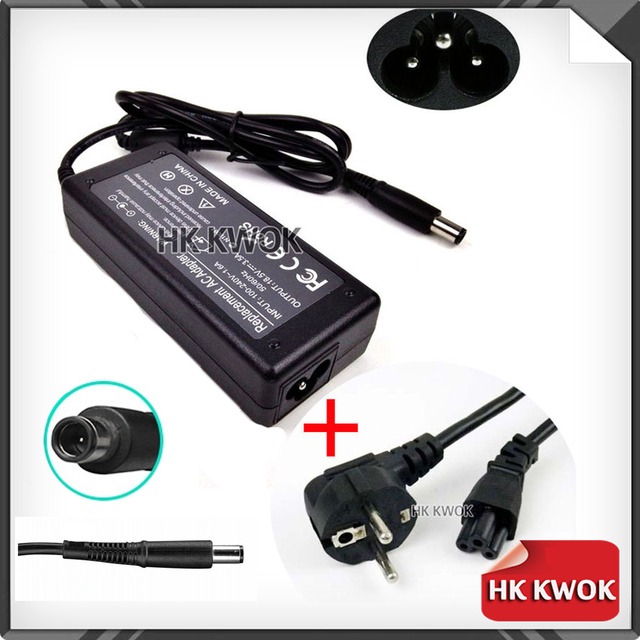 EU Power Cord + 18 5V 3 5A AC Adapter Charger For hp G60 G61 G70 DV5 DV6  DV7 DV4 ProBook 4310s 4410s 4415s 4416s 4510s 4515s-in Laptop Adapter from