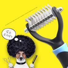 Кошка собака открытый узел щетка для ножа инструмент волос мех выпадение Триммер Уход гребень для матовых длинных волос Кудрявые питомцы