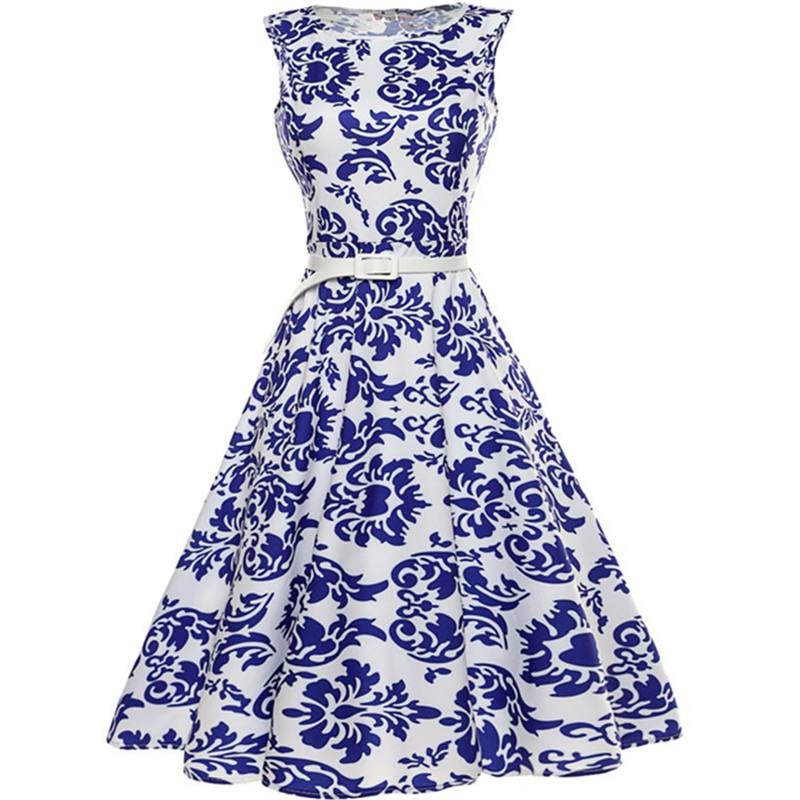 Կանացի կապույտ և սպիտակ ճենապակյա - Կանացի հագուստ - Լուսանկար 1