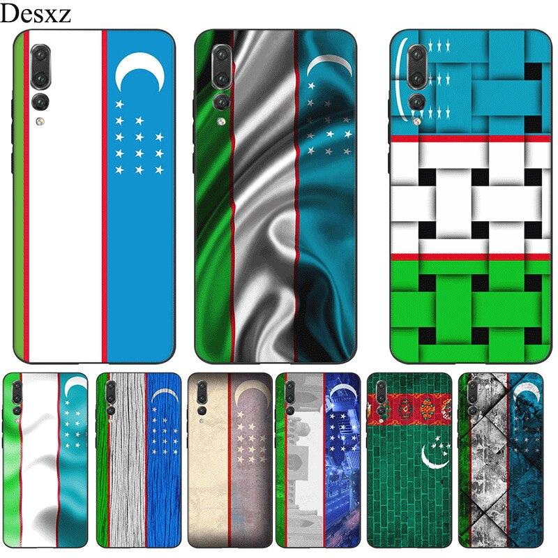 Étui de téléphone portable en Silicone Desxz pour Note dhonneur 10 6A 7A 7X8 8X 8C 9 Lite housse drapeau ouzbékistan bannière sac