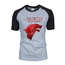 Game Of Thrones House Stark The North Remembers Men Raglan T Shirts