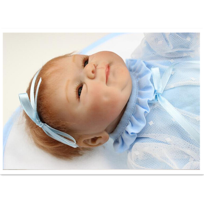 Free Shipping 2015 Popular Silicone Reborn Baby Dolls With Clothes And Blanket Lifelike Baby Reborn Doll