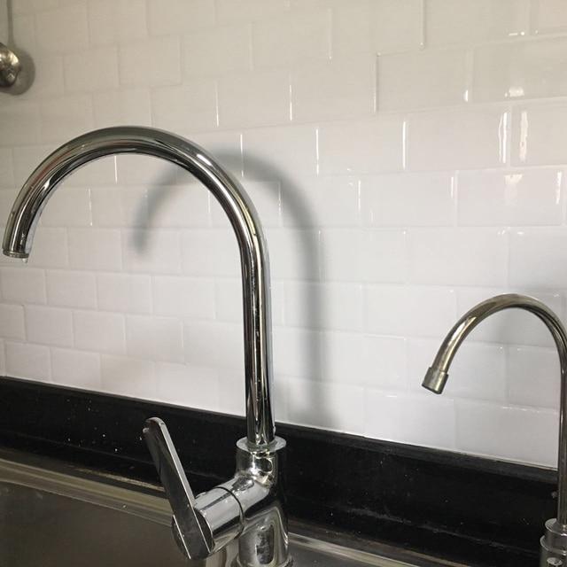 Küche Backsplash Fliesen Schälen Und Stick Weiße Ziegel U Bahn Für