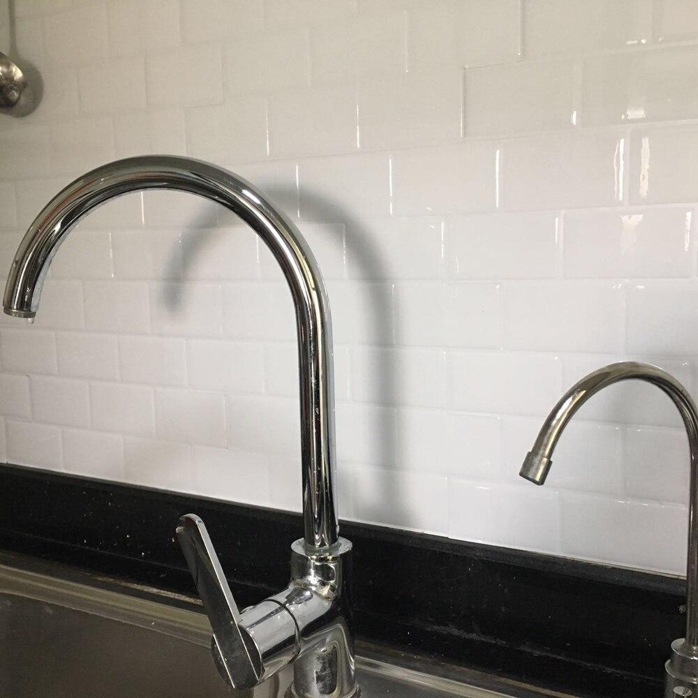 Keuken Backsplash Tegels Schil En Stok Wit Baksteen Metro Voor