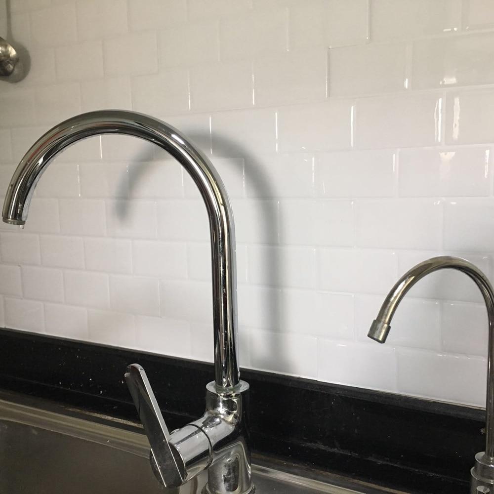 Kitchen Backsplash Tiles Peel and Stick White Brick Subway