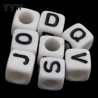 Yeni geliş boncuk Alfabe Akrilik Boncuk yapımı diy Takı Bilezik için kolye ile Küp mektubu desen Yaklaşık 3000 Adet/torba