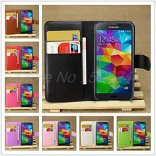 Carteira de luxo caso capa de couro para Samsung Galaxy S5 mini-g800 com suporte de cartão suporte Flip casos saco do telefone móvel para S5mini