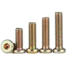 M6 M8 Furniture Barrel Screws Zinc Plated Metric Threaded Flat Hex Drive Socket Cap Bolt Nuts