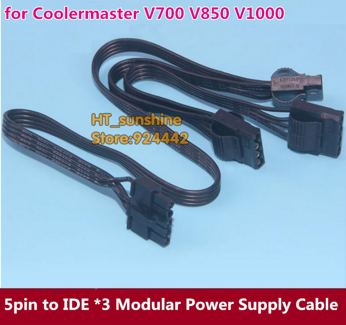 50pcs~100pcs NEW 5Pin to 3 IDE Modular Power Supply Cable for Coolermaster V700 V850 V1000 shipping by DHL/EMS dhl ems 5 lots 1pc new for sch neider isd breaker f2