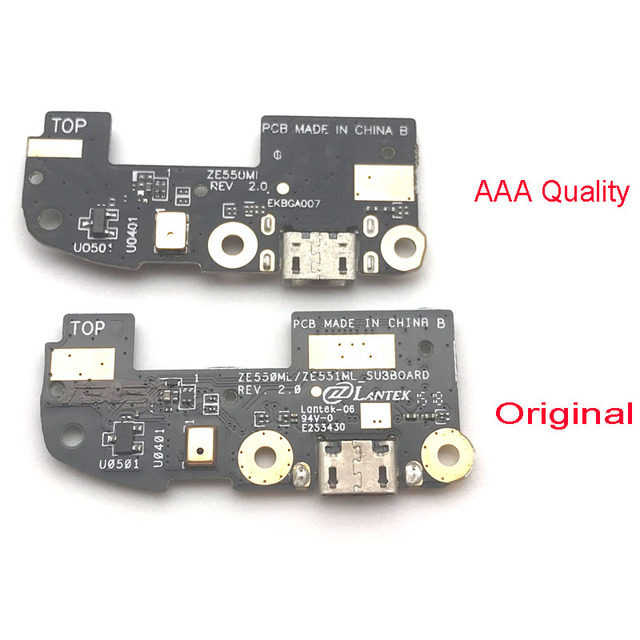 """For ASUS ZenFone 2 ZE551ML ZE550ML 5.5"""" Inch Micro USB Charging Port Flex Cable Dock Connector Board Replacement Parts"""