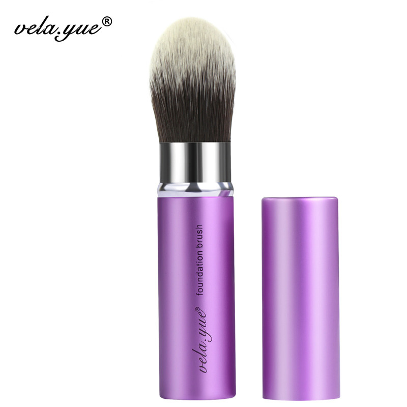 vela.yue Retractable Tapered  Pointed Foundation Makeup Brush Precise Face Blend Highlight Contour Beauty Tool mistura beauty solutions retractable brush 1 ounce