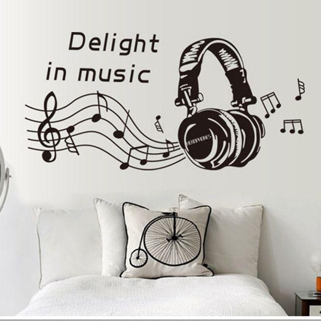 Moderne Wandtattoos abnehmbaren freude in musik musiknote kunst aufkleber wandtattoo