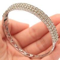 Ravishing Smoky Topaz Gift For Woman's 925 Silver Bangle Bracelet 7.5 67x9mm