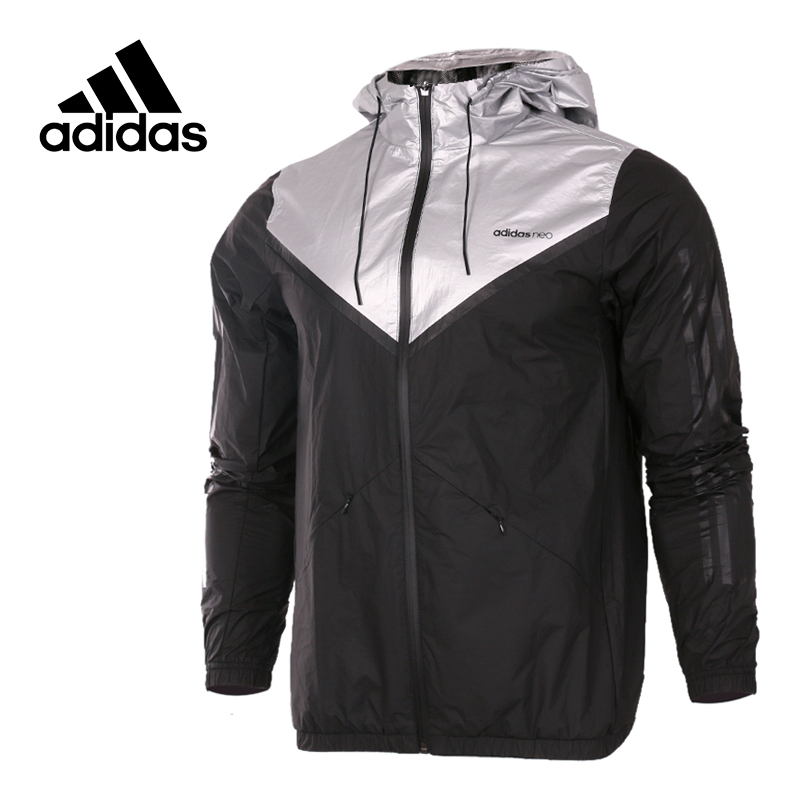 Original New Arrival Official Adidas NEO Men's Windproof Jacket Hooded Sportswear adidas original new arrival official women s tight elastic waist full length pants sportswear aj8153