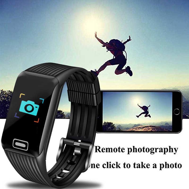 BANGWEI спортивные Смарт-часы для мужчин фитнес-трекер пульсометр Сфигмоманометр Смарт-часы с шагомером водонепроницаемые часы для Android ios