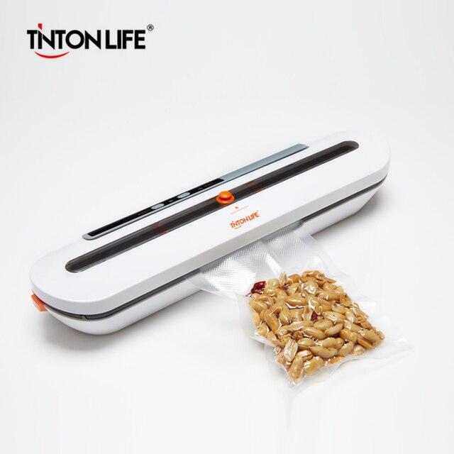 TINTON LEVEN Food Vacuum Sealer Verpakking Machine Met 10 stuks Zakken Gratis Vacuüm Voedsel Sluitmachine Vacuüm Sealer Packer