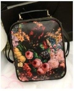 2013 new trend of Korean school packbag painting mortise lock with two backs travel bag handbag bb1119
