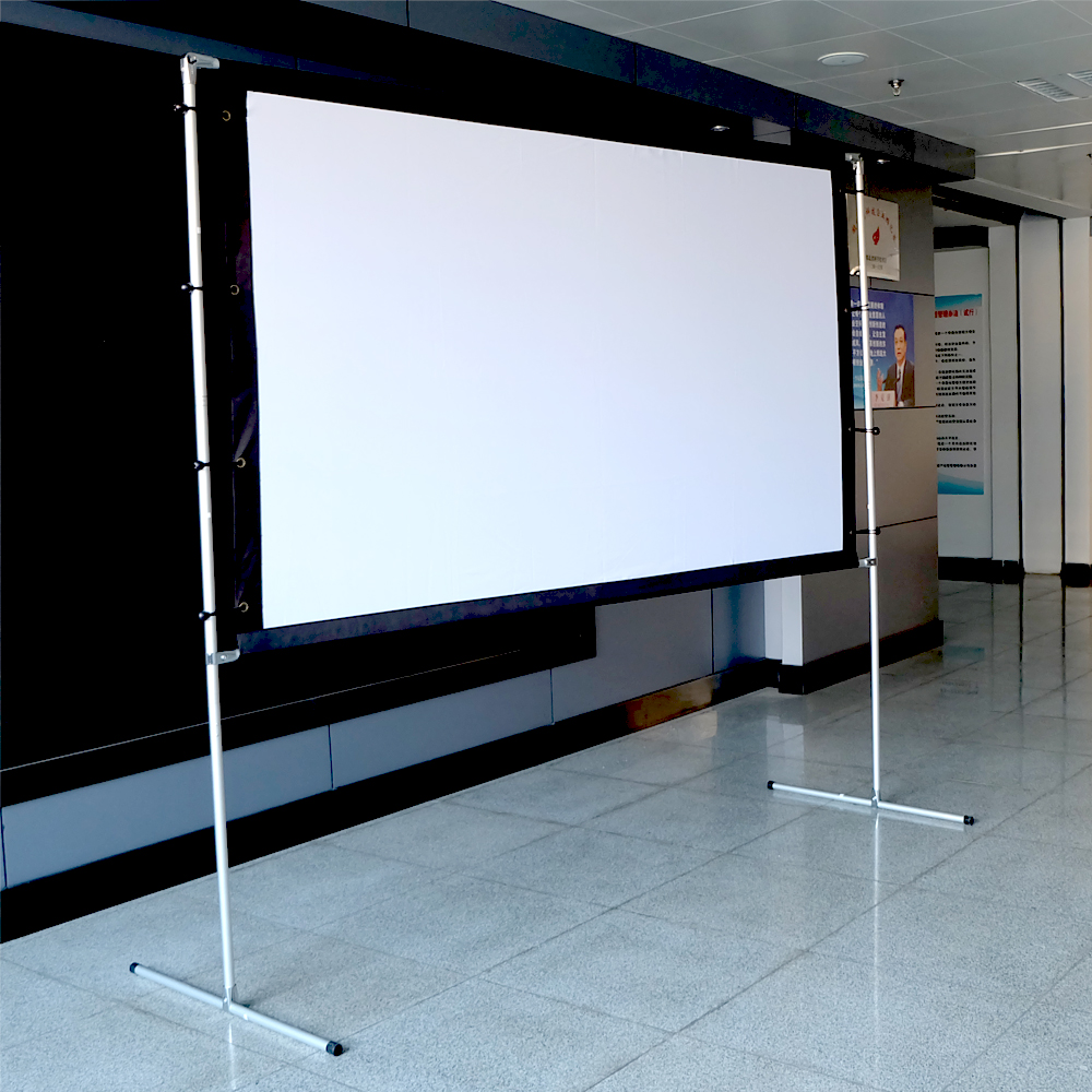 Projection Screen with Frame Tripod 100 inch Projector Screen ...