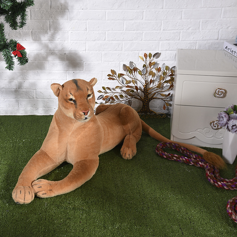 big lovely plush simulation lion toy new creative female lion doll gift about 90cm