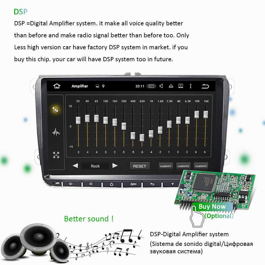 Android 9 0 DSP 4G 64G Auto GPS RADIO for Seat Altea Toledo VW GOLF 5/6  Polo Passat B6 CC Tiguan Touran Naigation NO DVD Player