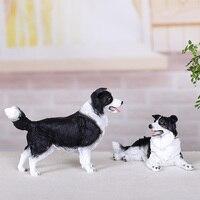 Simulation Dog Ornament Cute Animal Model Office Home Decor Furnishings Creative Gifts Wolf Dog Golden Retriever