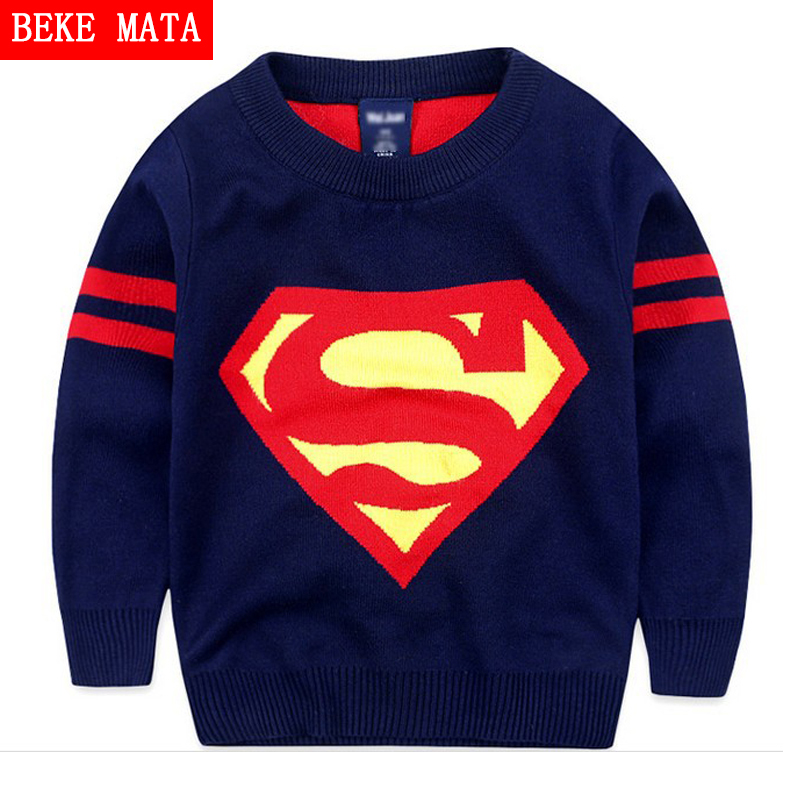 Knitted Sweaters For Boys Winter 2016 Casual Cotton Warm Boys Sweaters And Pullovers Cartoon Pattern Children's Sweater Clothes children autumn and winter warm clothes boys and girls thick cashmere sweaters
