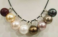 Hot sell Noble FREE SHIPPING>>>@@ AS3462 8pc Entries Beautiful shell Pearl Pendant Necklace 14mm