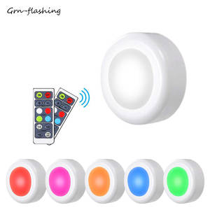 16 color under cabinet light LED dimmable night light with wireless controller wardrobe lamp battery powered for bedroom lights