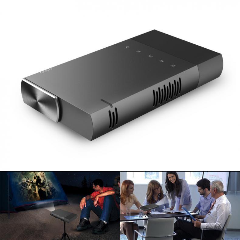 Universel 10-138 pouces Portable Mini projecteur LED 854x480 résolution prise en charge téléphone Mobile co-écran pour la maison et le divertissement