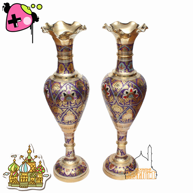 Inde moderne mode décoration artisanat vase inde plat ventre vase T18