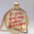 pretty little liars logo Copper Chain Women Choker Statement Copper Pendant Necklace For Men Dress Accessories