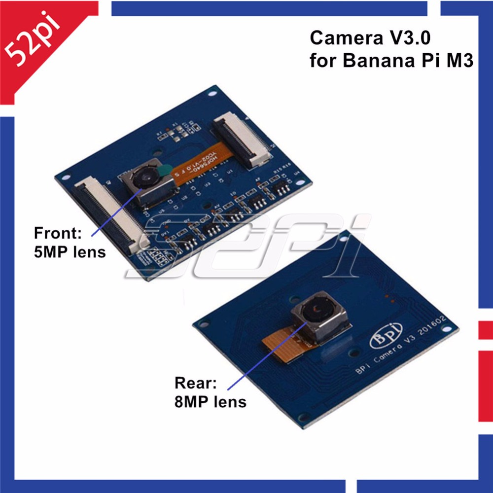 Banana Pi M3 Camera with 8MP+5MP lens BPI-M3 camera module with OV8865 - 8 mega pixel & OV5640 - 5 mega pixel лаки для ногтей с эффектами orly mega pixel fx collection 441 цвет 441 plum pixel variant hex name 6b6068