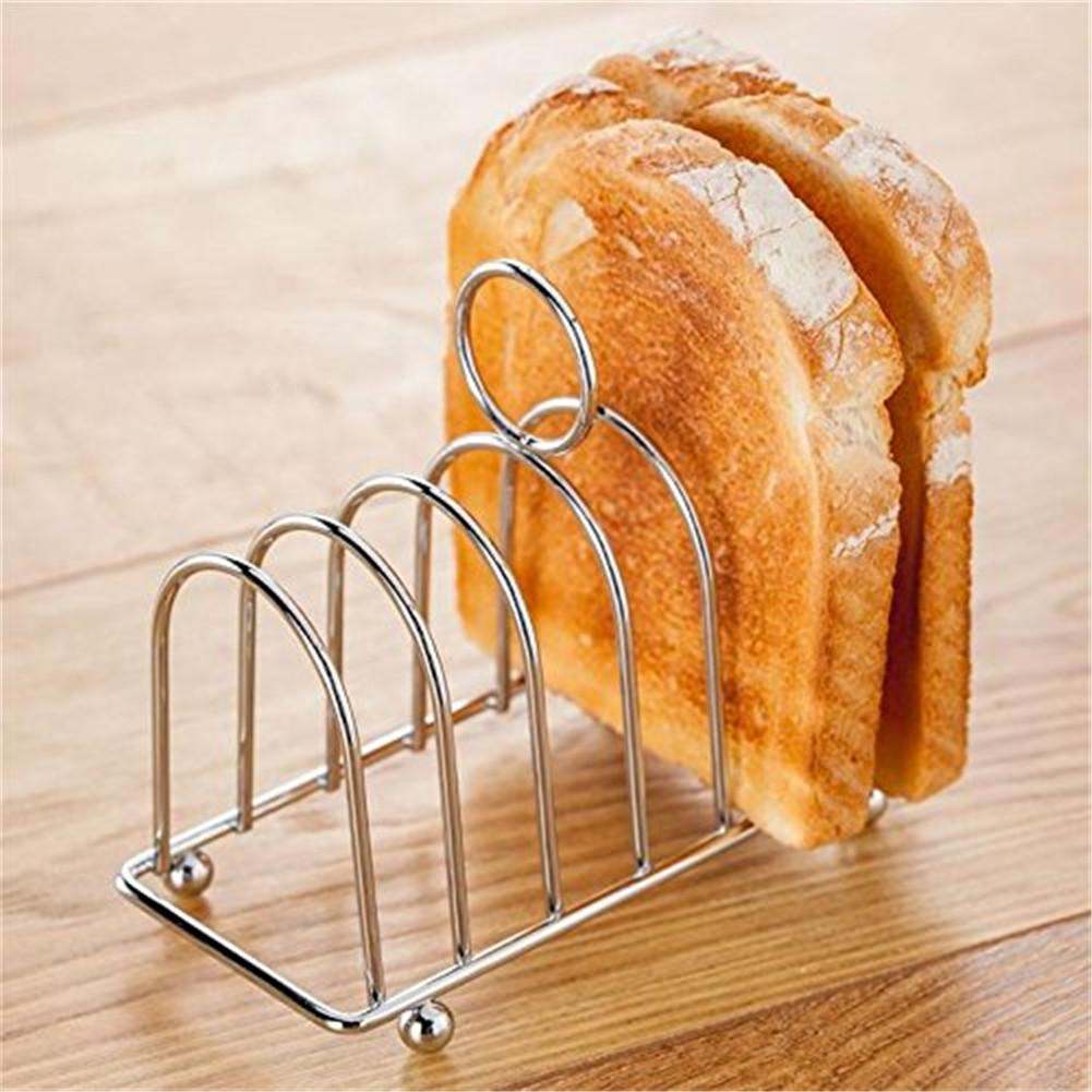 Toast Bread Rack Holder 6 Slice Holes Stainless Steel Food Show Tool Toast Rack Display Kitchen Breakfast Storage Crisper House