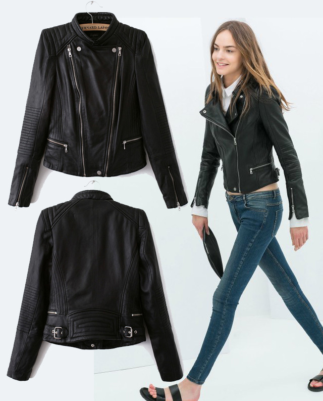 Black Leather Jackets Women Photo Album - Reikian