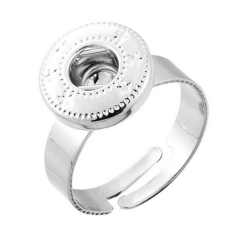 Fashion High Quality Metal Diy 12mm Snap Button Ring Jewelry For Women & Men 10pcs/lot Wholesale image