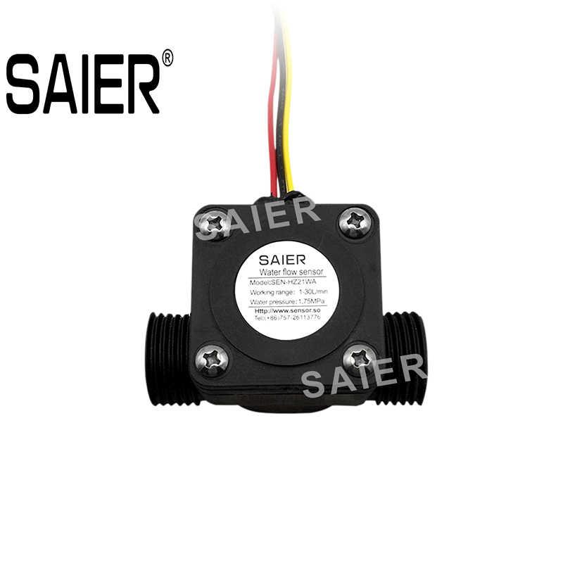 Medidor Corriente Medidor Contador 1-50L//min YF-C02 sourcing map G1//2 Efecto Hall L/íquido Agua Flujo Sensor Interruptor