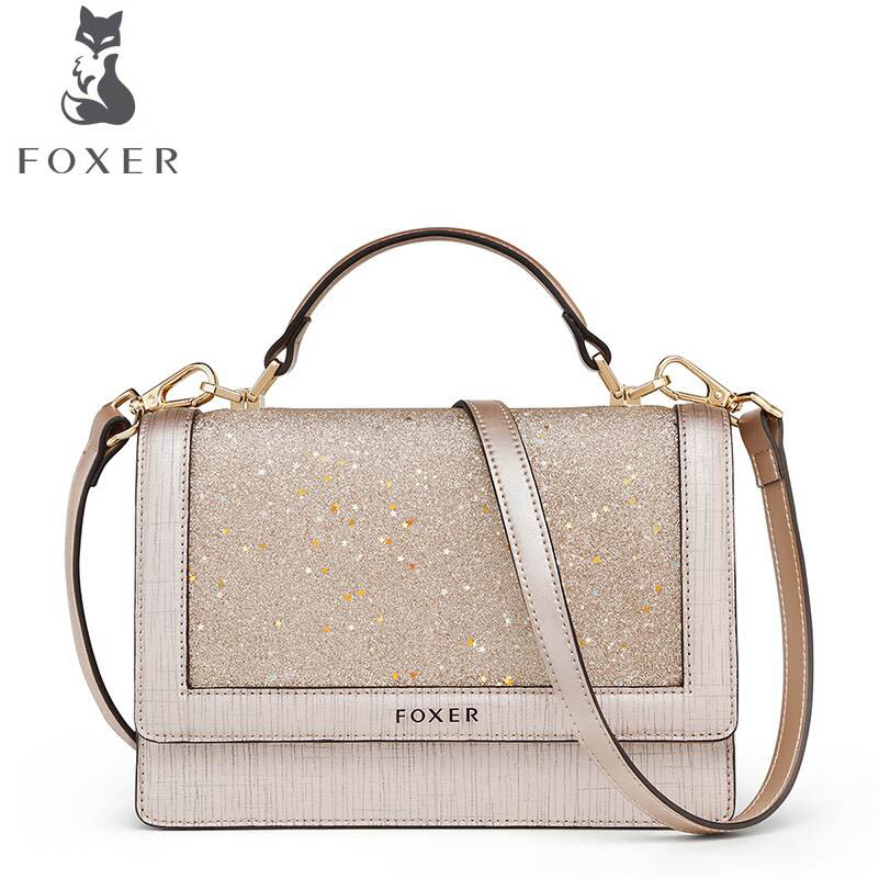 FOXER bags for women 2018 new women leather bag fashion luxury handbags tote bags designer women leather handbags shoulder bag hansying nostalgia newspaper and coffee creative design boy girls kids waterproof quartz watch suitable women men watch