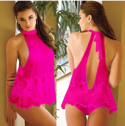 1730db85db0 Women Sexy Sissy Lace Lingerie Babydoll G-String Thong Underwear Nightwear  UK