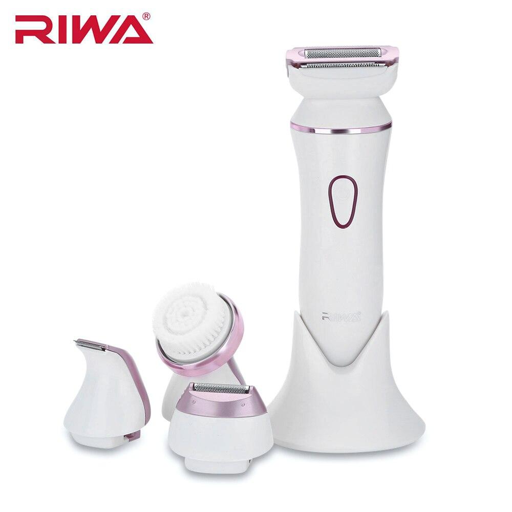 RIWA RF-1202 coupe-cheveux outil d'épilation IPX7 imperméable à l'eau électrique brosse de nettoyage du visage dame rasoir