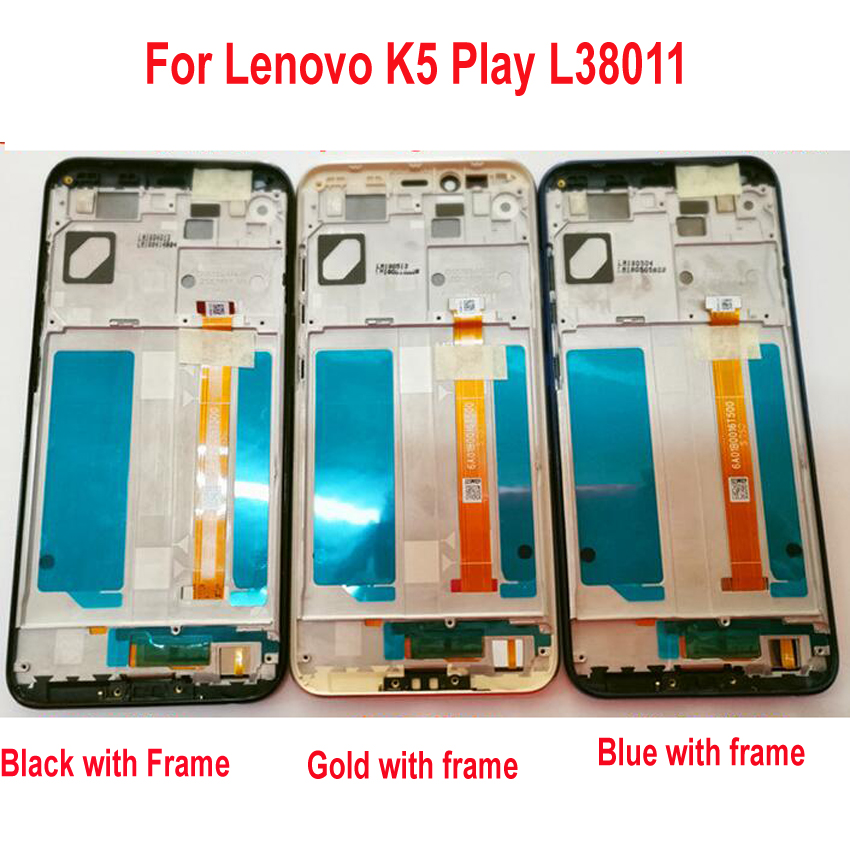 Original Best Working LCD Display Touch Screen Digitizer Assembly Sensor Frame bezel For Lenovo K5 Play