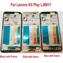 Оригинальный лучший рабочий ЖК-дисплей, дигитайзер сенсорного экрана в сборе с рамкой/рамкой для Lenovo K5 Play L38011, панель для телефона