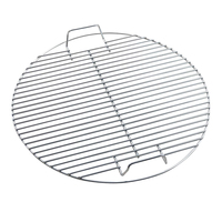 Nonstick Metal Steel Grilling Mesh BBQ Round Meshes Replacement Wire Net Cooking Baking Grill Grid Grate BBQ Accessories 17.5