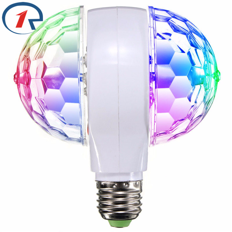 ZjRight 3W RGB led Christmas lights indoor holiday party Colorful Rotating Light Magic double-Ball KTV bar DJ disco fairy lights hifi colorful ball led lighting wireless bluetooth 4 0 speaker with 3 5mm line in for christmas ktv disco bar